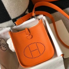Hermes Orange Evelyne II TPM Messenger Bag